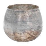 Teelichthalter Esbo, antik silber, Glas, 8,5 cm
