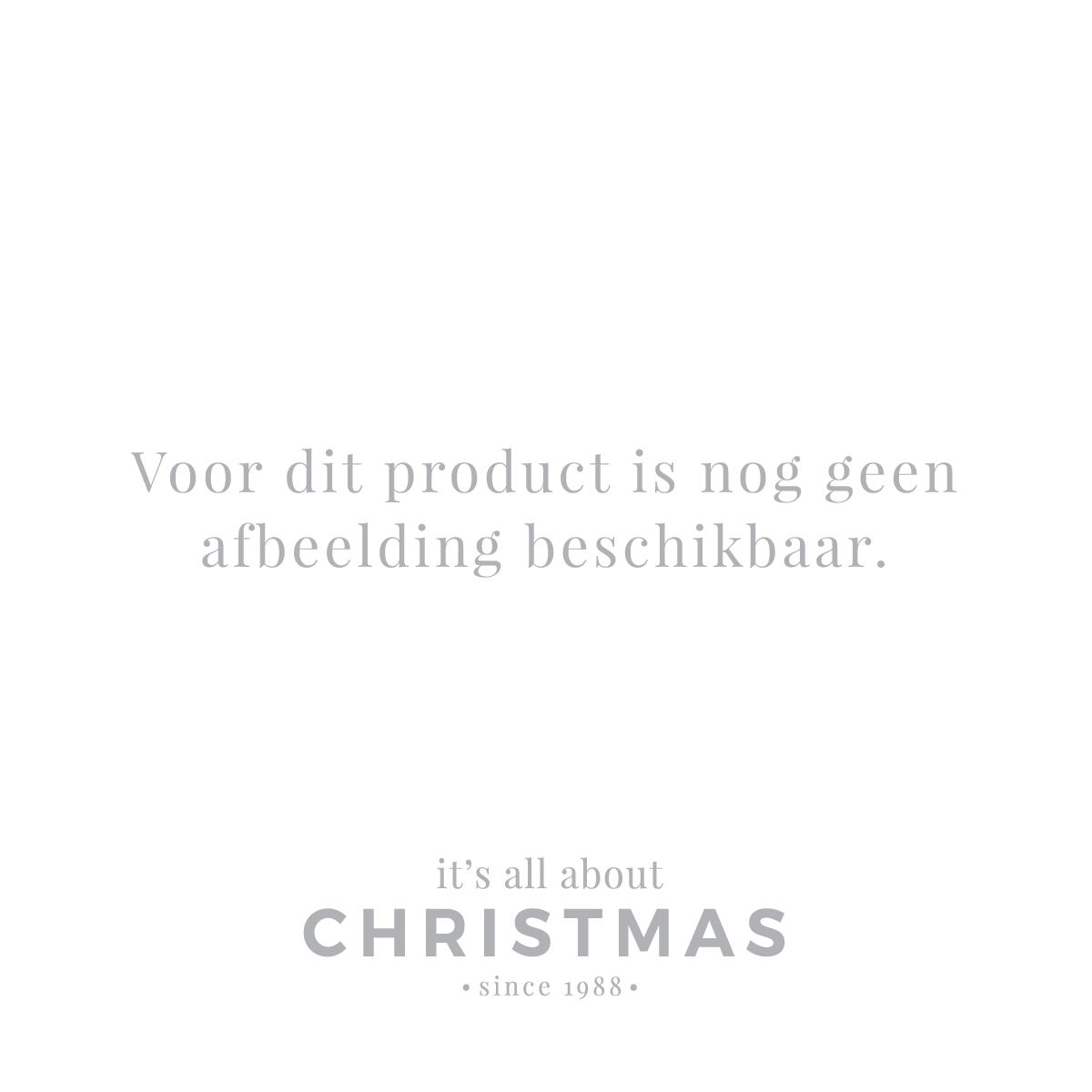 Luxuriöse Weihnachtskugel Rautenmuster weiß-silber, aus Glas, 8 cm