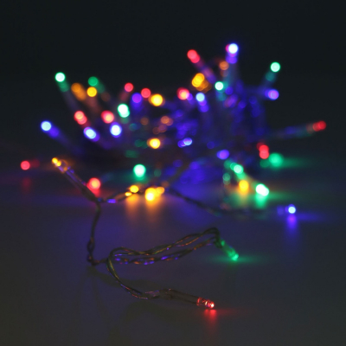 LED-Lichterkette bunt mit Batterie, 50 LEDs